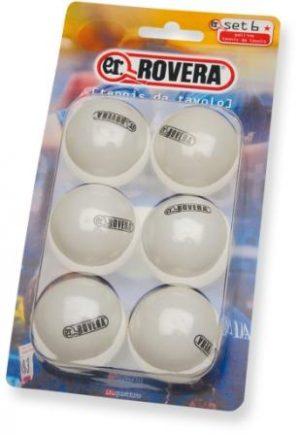 6 Palline da Ping Pong Rovera E.R. NET Bianche-0