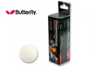 3 Palline da Ping Pong Butterfly COMPETITION Bianche-0