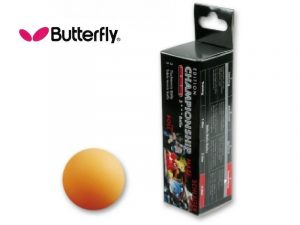 3 Palline da Ping Pong Butterfly COMPETITION Gialle-0