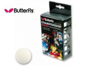 6 Palline da Ping Pong Butterfly TRAINING Bianche-0